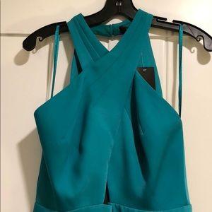 BCBGMaxAzria Tea-length teal dress